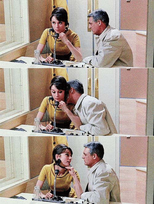 audrey hepburn, cary grant in charade 1960s