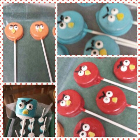 Angry Birds Oreo Pops and Marshmallow Pops