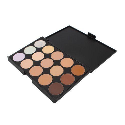 Professional 15 Color Concealer Camouflage Makeup Palette -- For more information, visit image link.