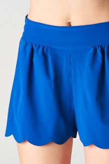 Royal Blue Scallop Hem Shorts $25 Perfect for the summer or for the Fourth Of July
