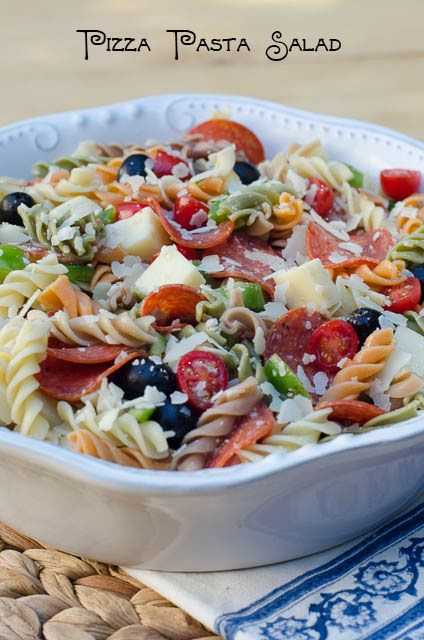 Pizza Pasta Salad ~ http://www.fromvalerieskitchen.com/wordpress
