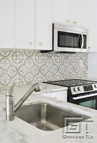 Normandy for Chic, Contemporary Kitchen Tile