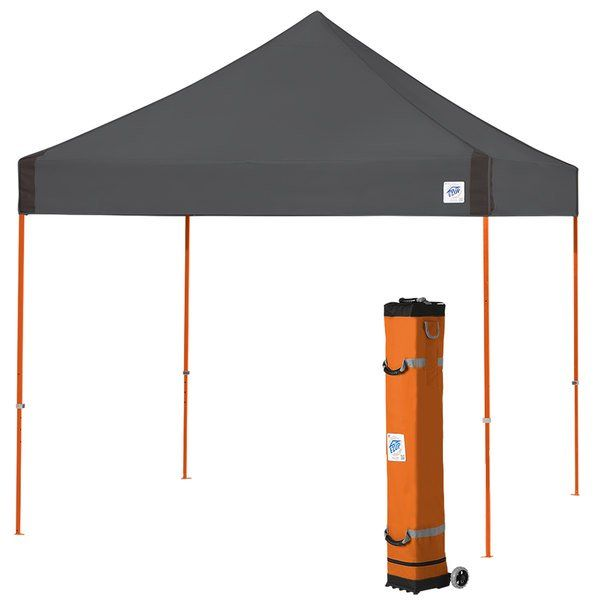 E Z Up Vg3so10sg Vantage Instant Shelter 10 X 10 Steel Gray Canopy With Steel Orange Frame In 2020 Canopy Innovation Design Steel Frame