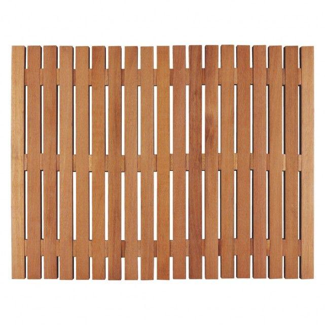 PAPUA Natural wooden bath mat en suite Wooden bath
