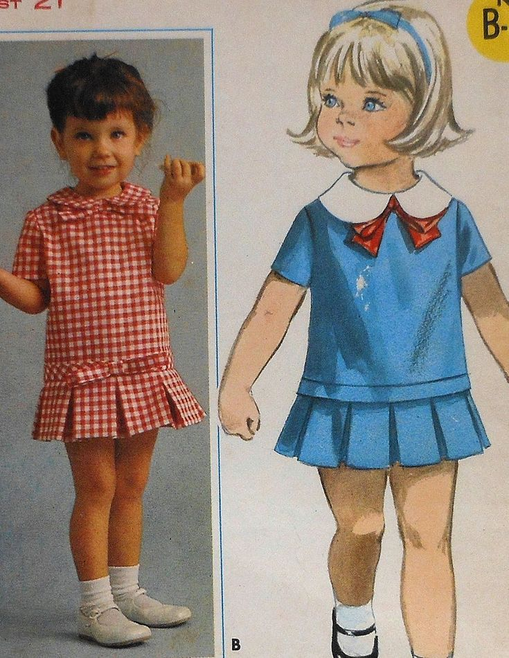 Vintage Toddler Pleated Dress Sewing Pattern