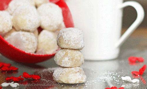 Healthy Christmas Recipes Snowball Cookies http://blog.misa.com.au/10-delicious-healthy-christmas-recipes/