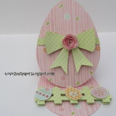 Easter Egg Easel Shaped Card {Card Ideas}