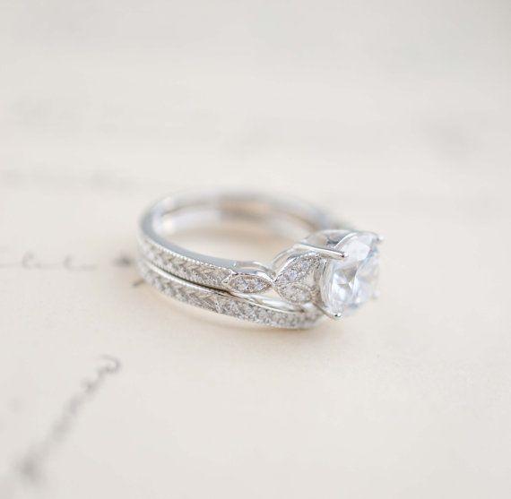 Verlobungsring Jahrgang inspiriert Ring Antik von MochaRings