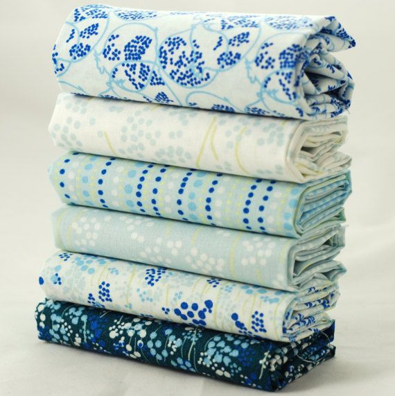 6 Abstract Fat quarter fabric bundle duck egg blue green white $29.50  #patchwork #quilt #fabricaddict #ilovefabric #modernquilters #makesomething #sewcialists #fabriclust #imadethat