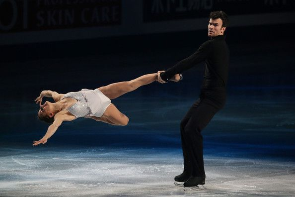 Meagan Duhamel and Eric Radford of Canada  perform their routine in the exhibition during ISU World Figure Skating Championships at Saitama Super Arena on March 30, 2014 in Saitama, Japan.