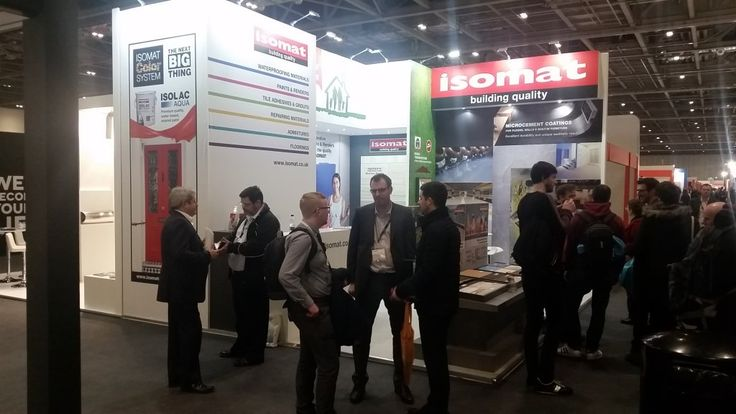 ISOMAT, in cooperation with its authorised dealer in the UK, SHC, participated for the second consecutive time in the ECOBUILD Exhibition, which took place at the Excel exhibition centre, in London, from 7-9 March.