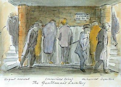 The Gentleman's Lavatory, sketch by Edward Ardizzone