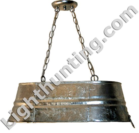 galvanized tub hanging light fixtures