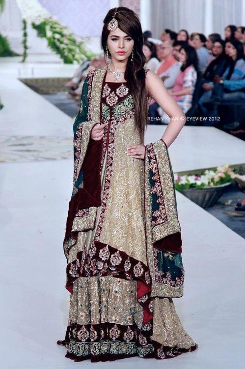 45 best Bridal dresses images on Pinterest   Indian gowns, Indian ...