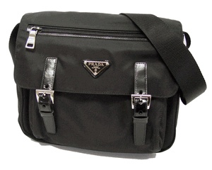 Prada Tessuto Messenger Bag | Designer Messengers | Queen Bee of Beverly Hills - Prada Messenger Bags