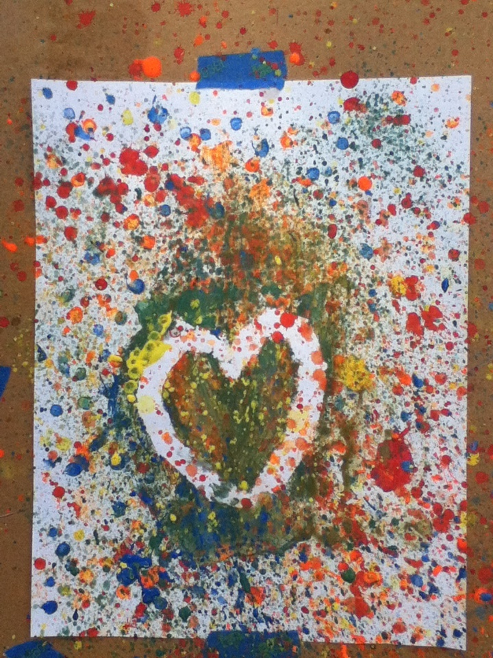 Splatter painting things you can do when your bored and for Creative things to do with paint