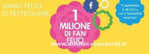 Bottega Verde 1 milione di Fans su Facebook - DimmiCosaCerchi.it