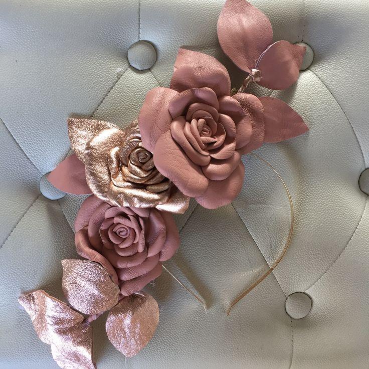 Blush and Rose Gold Fascinator