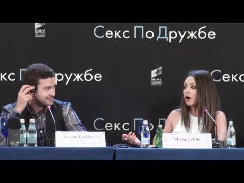Mila Kunis defending Justin Timberlake, speaking Russian