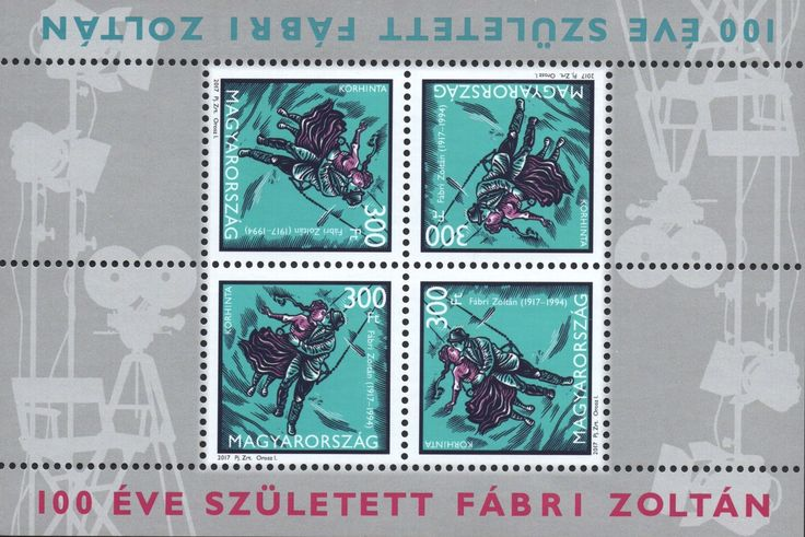 100th anniversary of the birth of Zoltán Fábri (1917-1994), Miniature Sheet of 4 stamps