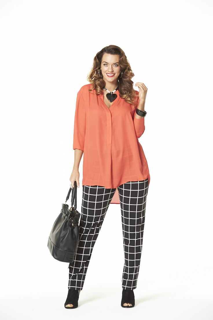 Spring Fling Pleated Top in Coral  #mysize #plussize #fashion #plussizefashion #spring #newarrivals #outfit