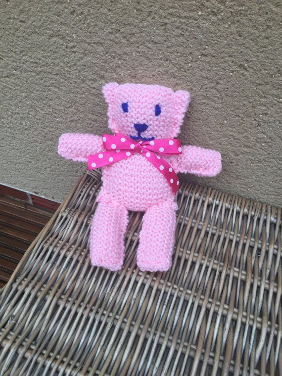 Knitted bear teddy bear valentines gifts for her by KnitNacksCo