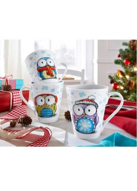 Les tasses Chouettes de Noël (Ens. 3 pces.) multicolore - bpc living commande online - bonprix.fr