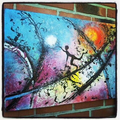 Tableau abstrait sur toile format 70x50 cm for Galerie art abstrait