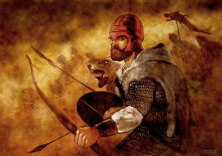 Dacian warrior illustration