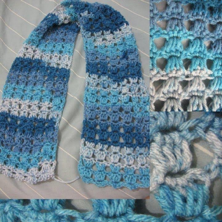 Angel Stitch Crochet Scarf Tutorial