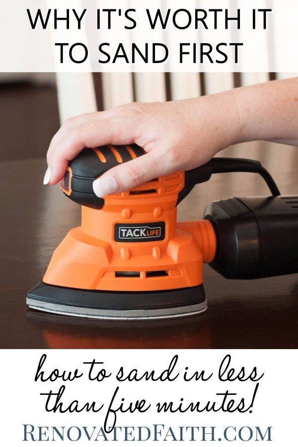 How To Sand Furniture Before Painting