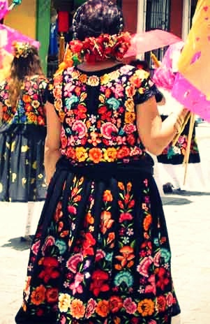 Wore one of these beautiful Oaxacan dresses and danced the local folk dances.