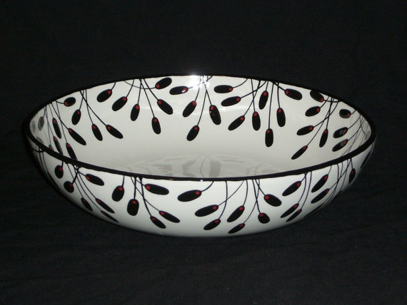 11'' Pasta Serving Bowl by theresitadesign on Etsy, $135.00