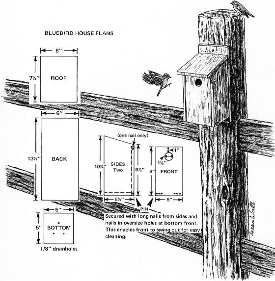 Bluebird House - Build It!  I built these with teens in residential treatment...they loved it!