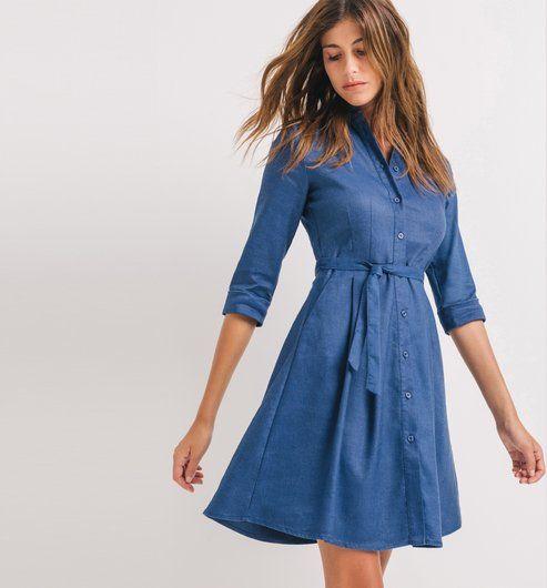 Robe chemisier Femme bleu - Promod
