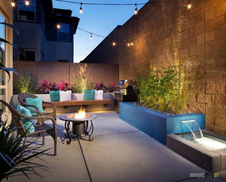 50 идей обустройства современного двора в загородном доме на фото