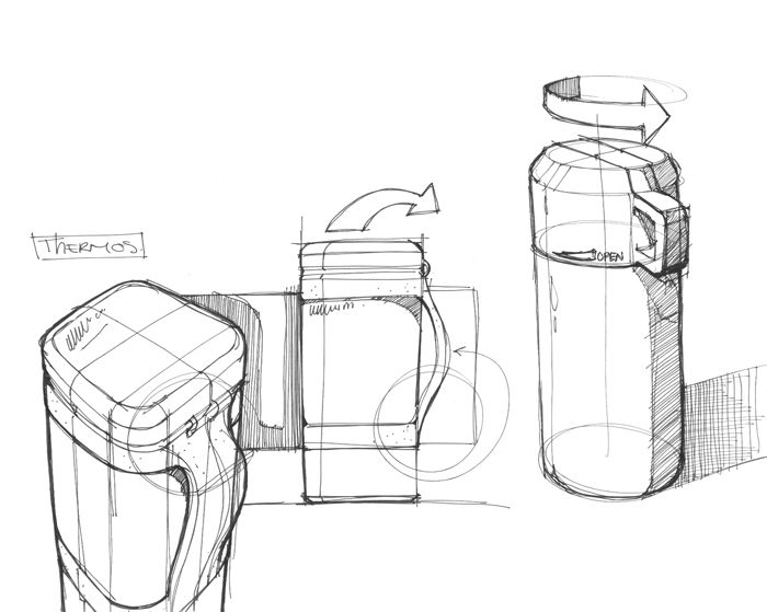 Thermos - by IDSketching. #id #product #sketch