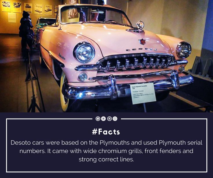 Desoto Diplomat used the P 24/25 engine of the Plymouth with facsimile Desoto badges that led the Chryslers to sell them at higher prices!  #facts #doyouknow #heritagetransportmuseum #desoto #vintagecollection #classiccollection #vintagecars #transportmuseum