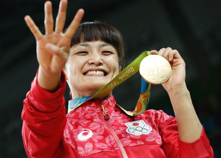 伊調が大逆転で五輪4連覇の快挙!レスリング女子58キロ級で金メダル #レスリング #リオ五輪