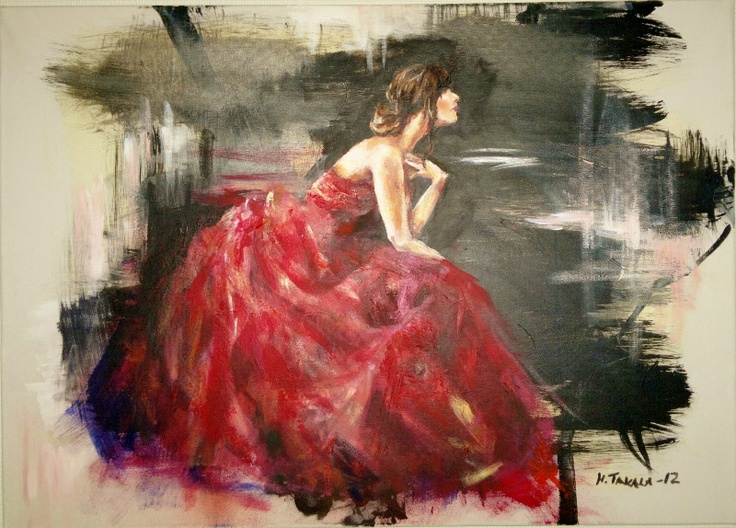 An oil painting by Henna Takala from 2012
