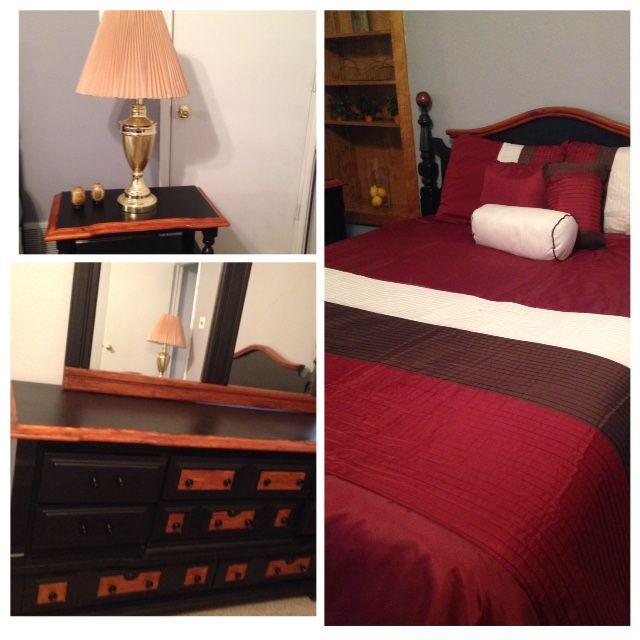 rustic beauty queen bedroom set in garage sale in arlington tx for refinished furniture set includes queen headboard queen bed frame triple - Queen Beds For Sale