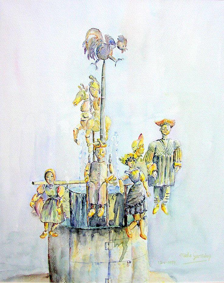 Sprookjesfiguren, aquarel