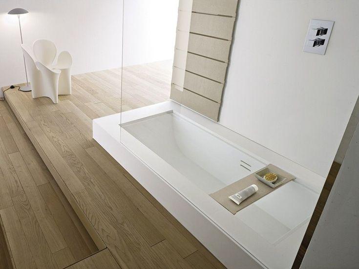 Baignoire-douche encastrable en korakril™ avec douche Unico   collection Unico au fabricant Rexa Design.