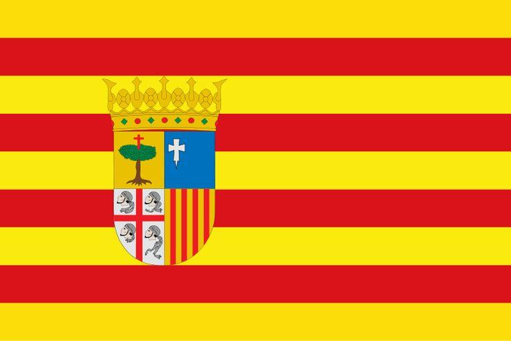 Bandera de la Comunidad Autónoma de Aragón.