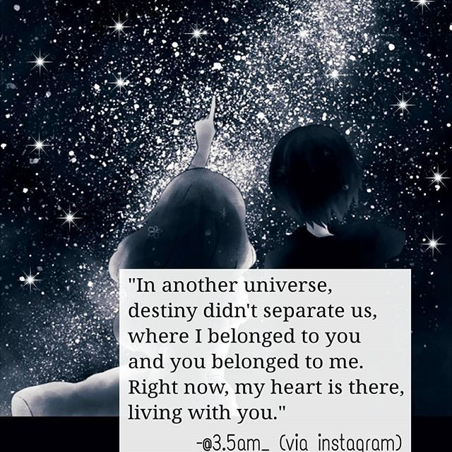 Top 100 i miss you quotes photos If another universe exists,  there destiny couldn't separate us, we are living together with every heart beats... ❤ . #universe #paralleluniverse #dreams #separation #quotes #lovequotes #writer #writersofinstagram #quotestags #love #sadquotes #imissyouquotes #poem #poetry #poemofinstagram #poemoftheday #fate #destiny #distance