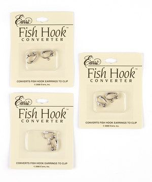 Don't let unpierced ears keep those stylish earrings on the shelf. Made from sturdy brass that won't irritate skin, this pack of converters change fishhook backs to clips, ensuring no accessory is off limits!