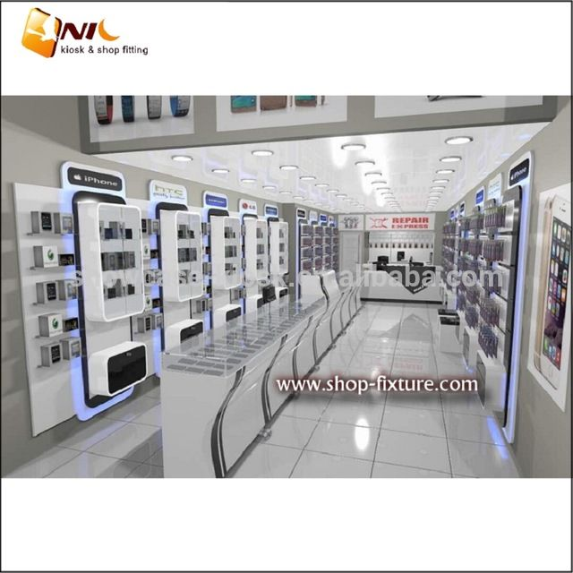 Source Cell Phone Store Interior Design For Phone Glass Display