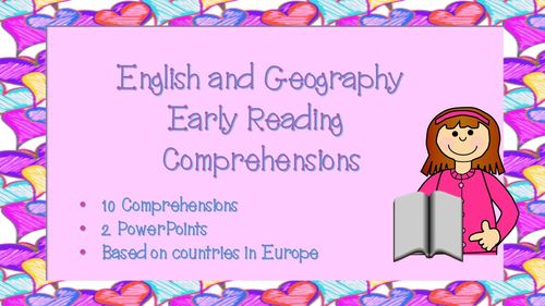 10 New Curriculum KS1 and Lower KS2 English Early Reading Comprehension (Geography, Europe).