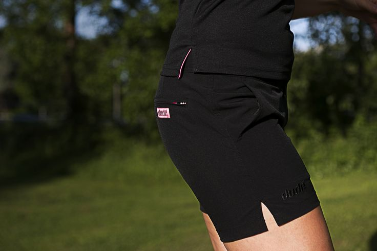 """Ladies, set your disc golf spirit free with Dude Pro Shorts 5"""" Inleg. Check it out now.>> https://www.dudeclothing.com/collections/ladies/products/ladies-pro-shorts?variant=17935530373  #dudeclothing #discgolf #GrowtheSport #GrowtheCommunity"""