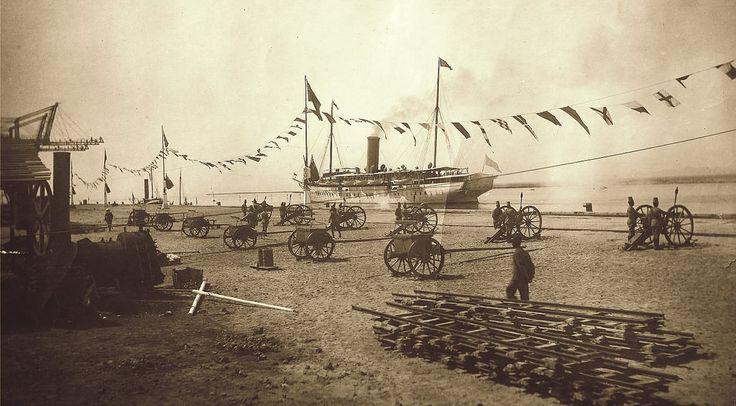 HH Khedive Abbas Hilmi II Leaving Sudan to Egypt, Aboard Mahroussa Khediviall Yacht with 21-Gun Salute, 1912.